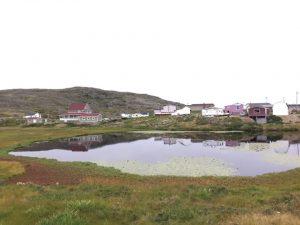 Fogo Island : das Zentrum der Welt..traumhaft schön, kein Regen, wunderbar frisch für eine Wanderung über die steilen, felsigen Klippen..Bänder sind fast tot, ich baue keine Antenne hier auf.